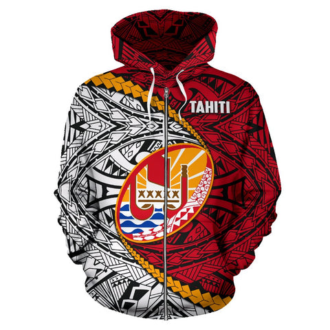 Image of Tahiti Polynesian Rugby Zip Hoodie | rugbylife.co