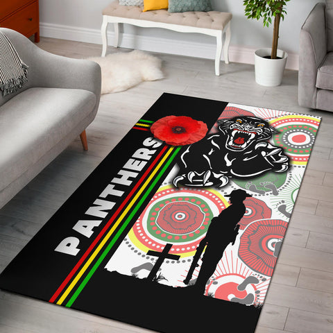 Penrith Panthers Area Rug Anzac Day Power Style | Rugbylife.co