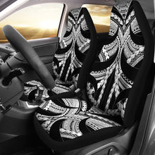 Load image into Gallery viewer, Samoan Tattoo Car Seat Covers White TH4 - 1st rugbylife