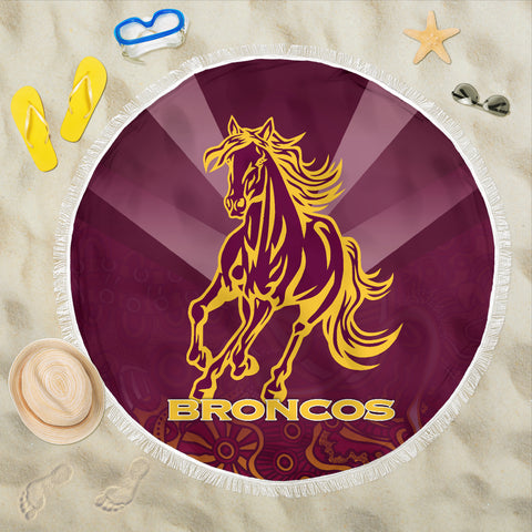Image of Brisbane Broncos Indigenous Beach Blanket