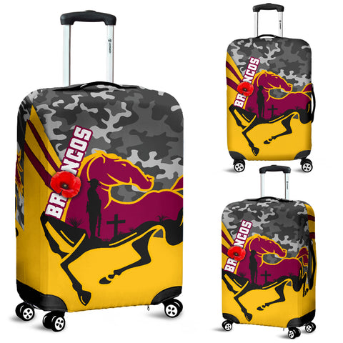 Brisbane Broncos Luggage Covers Anzac Day - Camo Style