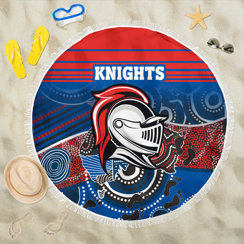 Knights Beach Blanket Newcastle Aboriginal Horizontal Style