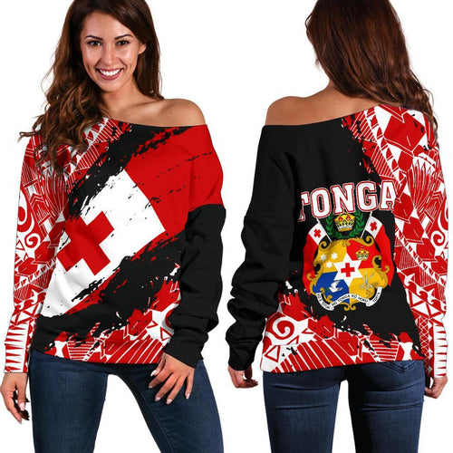 Tonga Women's Off Shoulder Sweater - Nora Style
