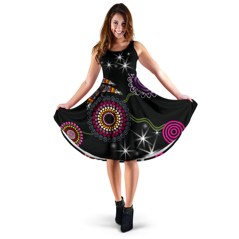Image of No Text - Sydney Women's Dress Sixers Indigenous - Black