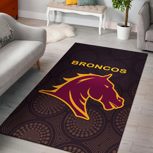 Brisbane Area Rug Broncos Simple Indigenous