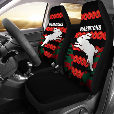 South Sydney Rabbitohs Car Seat Covers Anzac Day Poppy Flower Vibes