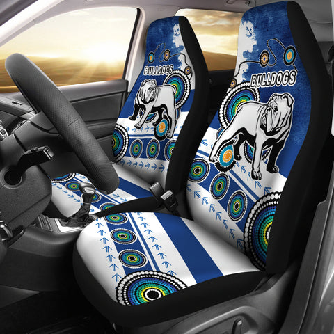 Bulldogs Car Seat Covers Special Indigenous 1 | Rugbylife.co
