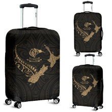 Load image into Gallery viewer, New Zealand Heart Luggage Covers - Map Kiwi mix Silver Fern Gold K4 - 1st New Zealand