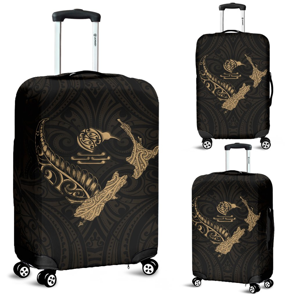 New Zealand Heart Luggage Covers - Map Kiwi mix Silver Fern Gold K4 - 1st New Zealand