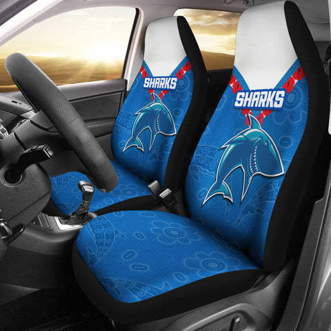 Image of Cronulla Sharks Car Seat Covers Anzac Country Style K36