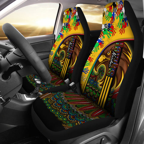 Image of Pride Hawks Car Seat Covers Hawthorn Naidoc Week Aboriginal Version Special | Rugbylife.co