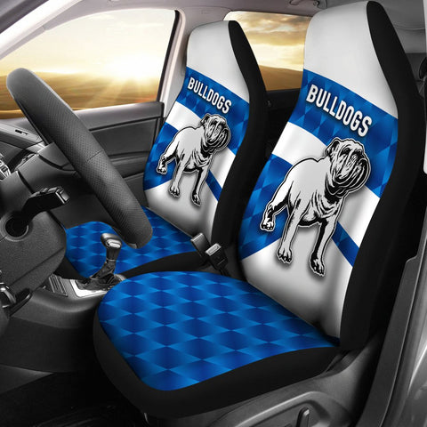 Bulldogs Car Seat Covers Sporty Style K8