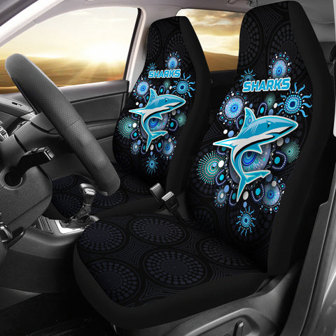 Cronulla Car Seat Covers Sharks Indigenous K8