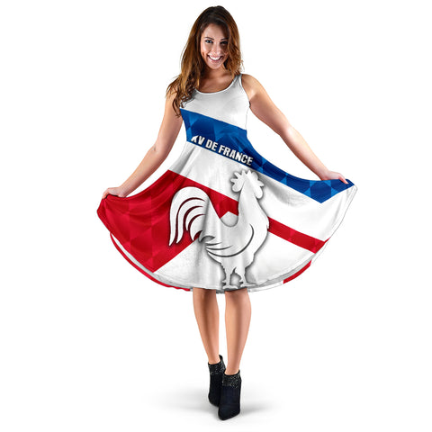 France Rugby Women's Dress Le XV De France Sporty Style