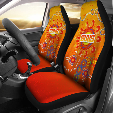 Naidoc Suns Car Seat Covers Gold Coast Indigenous Style