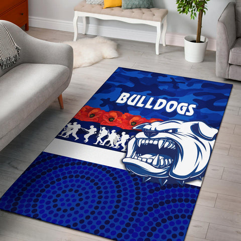 Image of Western Bulldogs Area Rug Anzac Day Poppy Flower