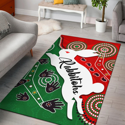 Rabbitohs Forever Area Rug Indigenous | Rugbylife.co