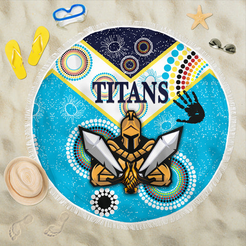 Gold Coast Beach Blanket Titans Gladiator Unique Indigenous