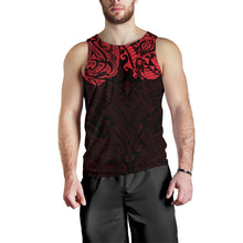 Load image into Gallery viewer, New Zealand Men's Tank Top, Maori Polynesian Tattoo Red TH4 - 1st New Zealand