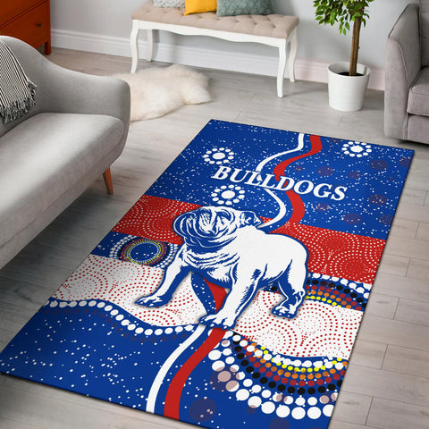 Image of Western Area Rug Bulldogs Unique Indigenous