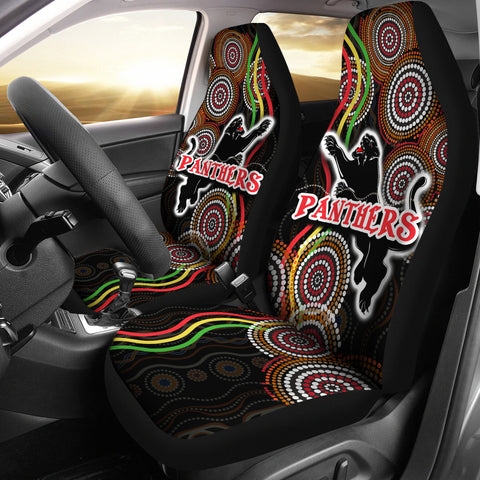 Panthers Black Car Seat Covers Indigenous Penrith Version | rugbylife.co