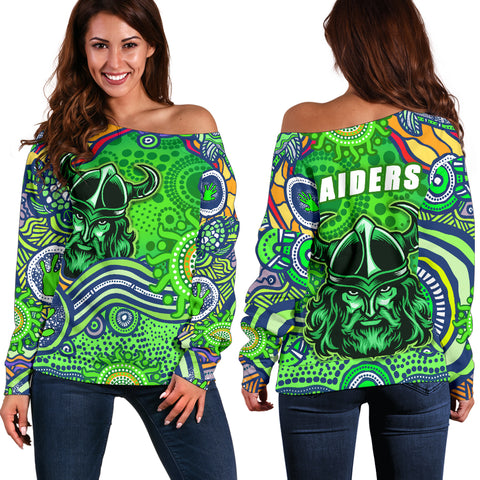Raiders Newest Off Shoulder Sweater Come On Green | Rugbylife.co