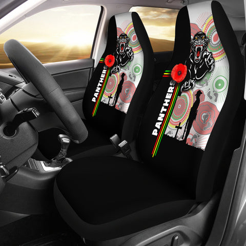 Penrith Panthers Car Seat Covers Anzac Day Power Style | Rugbylife.co