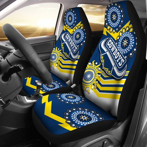 Proud Cowboys Car Seat Covers Indigenous North Queensland 1 | Rugbylife.co