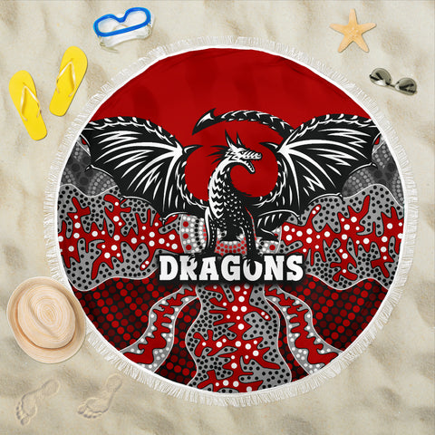 Dragons Beach Blanket St. George Aboriginal