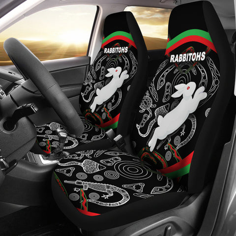 Rabbitohs Car Seat Covers Indigenous Mystery Vibes K8