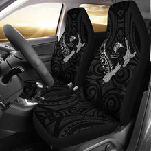 Load image into Gallery viewer, New Zealand Heart Car Seat Covers - Map Kiwi mix Silver Fern White K4 - 1st New Zealand