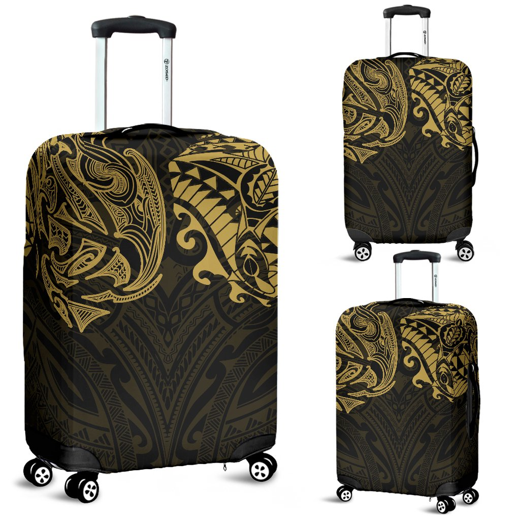 New Zealand Luggage Covers, Maori Polynesian Tattoo Gold TH4 - 1st New Zealand