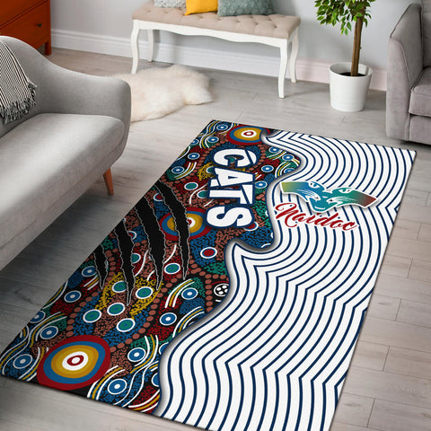 (Custom) Geelong Naidoc Week Area Rug Cats Indigenous Version Special | Rugbylife.co