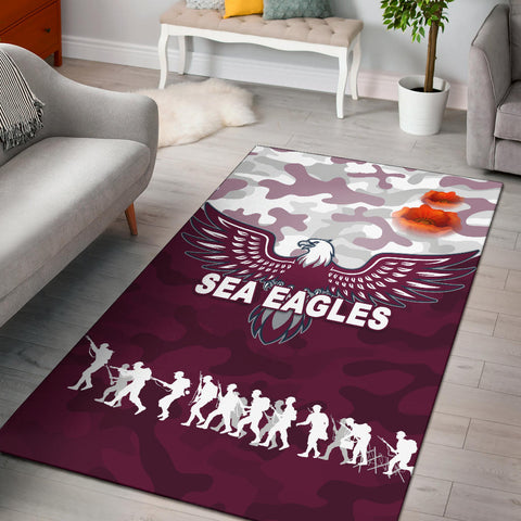 Manly Warringah Area Rug Sea Eagles Anzac Day Camouflage Vibes