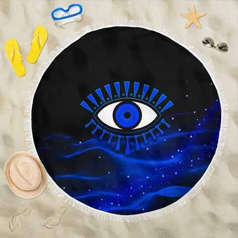 Evil Eye Beach Blanket Original Style - Blue | Rugbylife.co