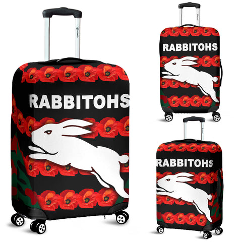 South Sydney Rabbitohs Luggage Covers Anzac Day Poppy Flower Vibes
