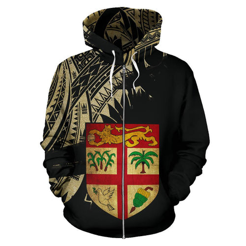 Fiji Coat Of Arms Special All Over Zipper Hoodie