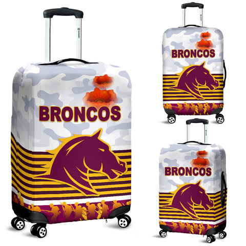 Brisbane Broncos Luggage Covers Anzac Day Simple Style - White