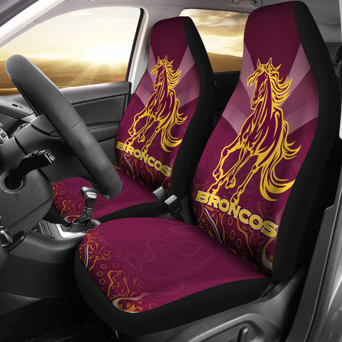 Image of Brisbane Broncos Indigenous Car Seat Covers