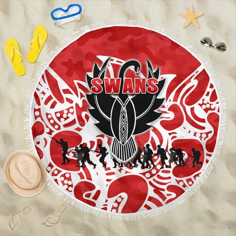 Sydney Swans Beach Blanket Anzac Day Simple Indigenous