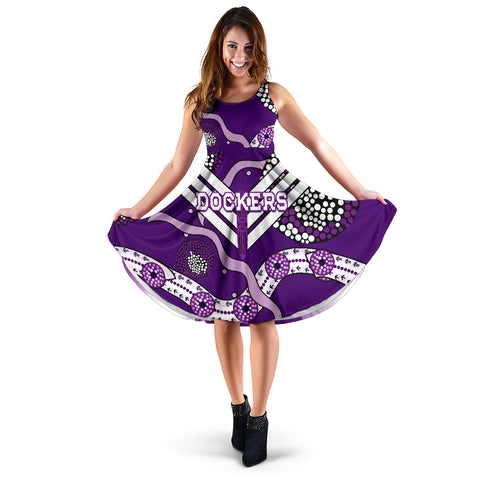 Image of Dockers Women's Dress Indigenous Fremantle - Freo | Rugbylife.co