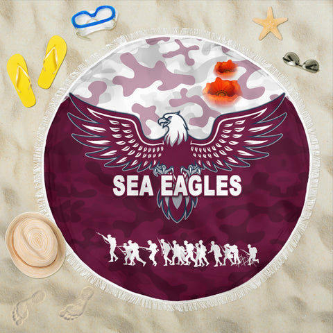 Manly Warringah Beach Blanket Sea Eagles Anzac Day Camouflage Vibes