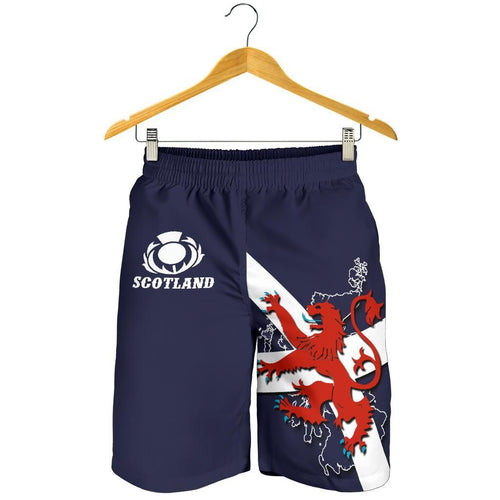 Scotland Rugby Men Shorts Lion Rampant with Thistle 1