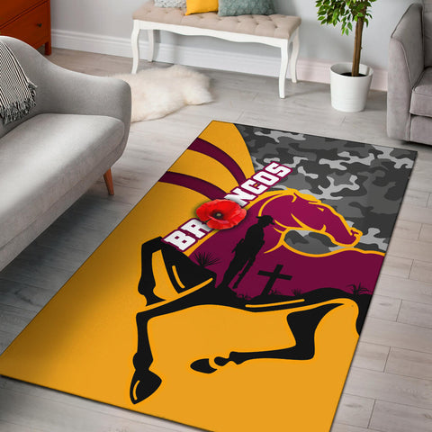 Image of Brisbane Broncos Area Rug Anzac Day - Camo Style