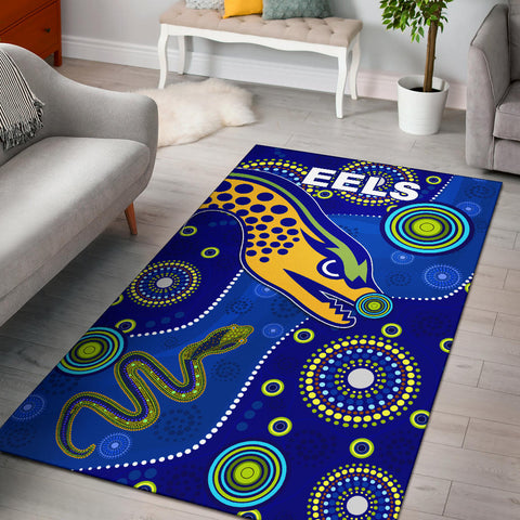 Eels Indigenous Area Rug Competitive | Rugbylife.co