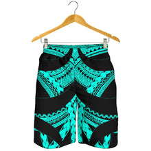 Load image into Gallery viewer, Samoan Tattoo All Over Print Men's Shorts Turquoise TH4 - 1st New Zealand