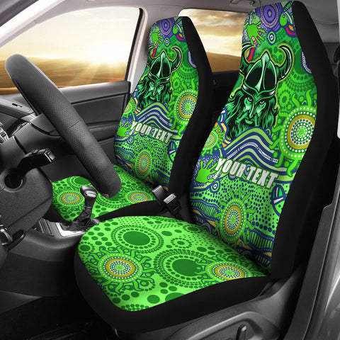 (Custom Personalised) Raiders Newest Car Seat Covers Come On Green K13