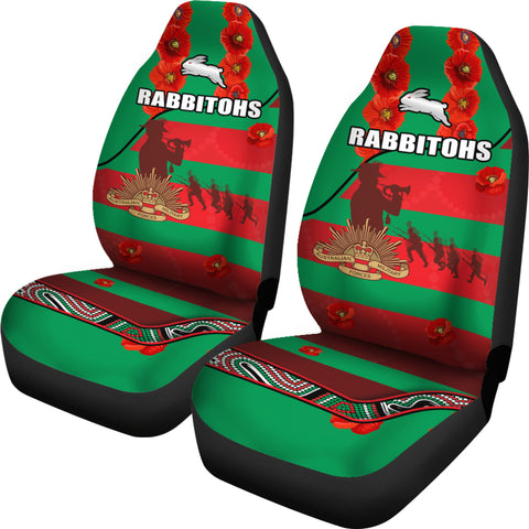Rabbitohs Anzac Day Car Seat Covers Rugby South Sydney Indigenous Military | Rugbylife.co