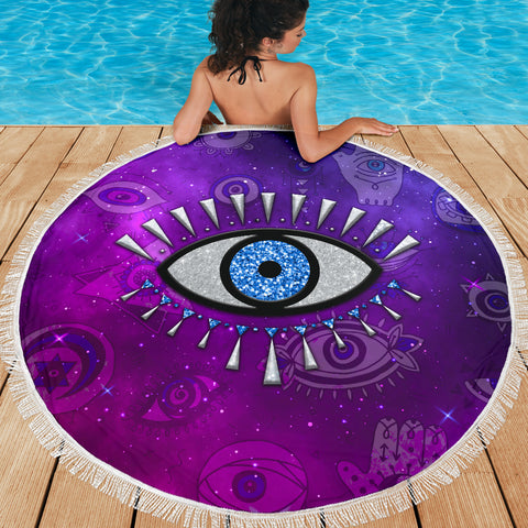 Image of Evil Eye Beach Blanket Universe Style K8
