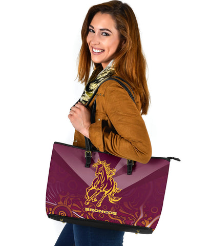 Brisbane Broncos Indigenous Large Leather Tote TH5